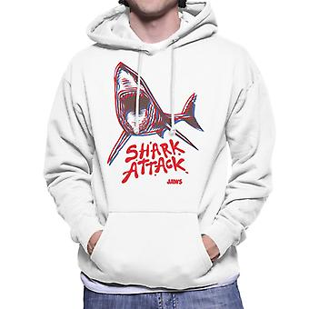 Jaws Neon Shark Attack Men's Hooded Sweatshirt