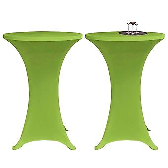 Stretch Table Husse 2 pcs 60 cm Green