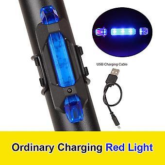 Luz traseira da bicicleta, USB led, recarregável, mountain bike, ciclismo,