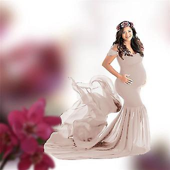 Long Maternity Photography Props Pregnancy Dress For Photo Shooting, Off