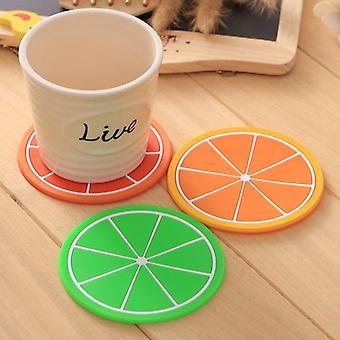 Silicone Fruits Button Coasters