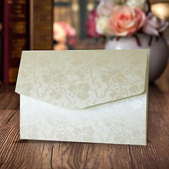 A6 Pocketfold Invitations Ivory Broderie Pack of 10