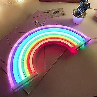 Cute Rainbow Neon Semn Led Light, Lamp Rainbow Perete Decor, Crăciun Bulb Tube