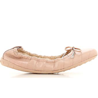 Ruched Ballerina Flat Laccetto