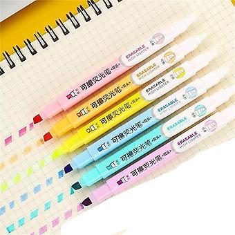 Schüler Mildliner Highlighter Marker Pinsel Stifte