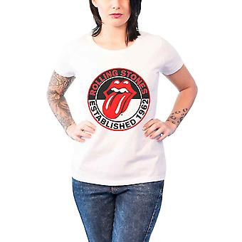 Rolling Stones T Shirt Est 1962 Official Womens New White Skinny Fit