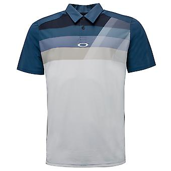 Oakley Mens Donner Golf Polo T-Shirt Graphic Stripe Top 434145 64W