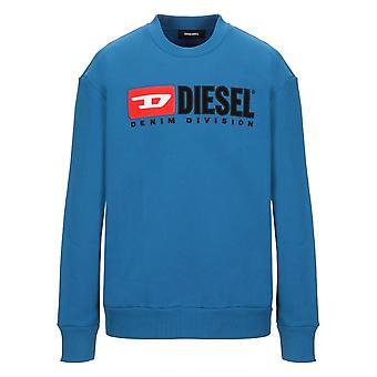 Diesel S-Crew-Division Logo Blue Sweatshirt