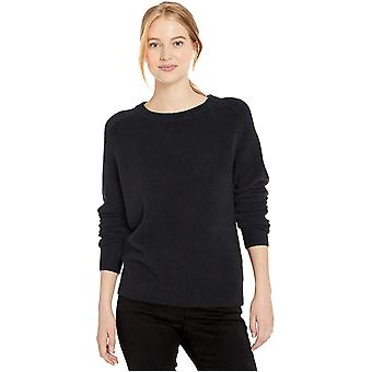 Brand - Daily Ritual Women's Cozy Boucle Crewneck Pullover Sweater, Black , Large