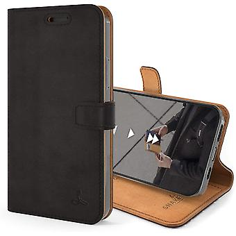 Snakehive Vintage Wallet for Apple iPhone 12 Mini || Real Leather Wallet Phone Case