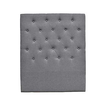 Cabecero de cama acolchado 90 cm 'deco'quot; en tela - Gris