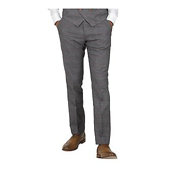 Marc Darcy Jenson Tan / Grey Check Suit Trousers