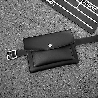 Módní dámské tašky v pase (černé)