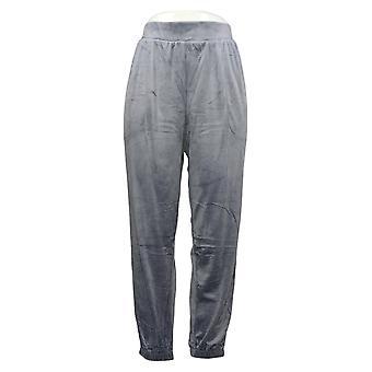 Carole Hochman Women's Petite Pants Pull-on Jogger Granite Blue A381874