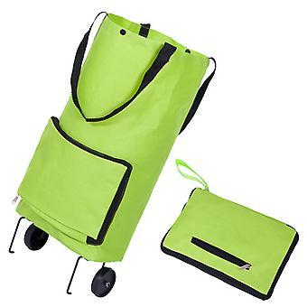 Taitettava ostoskassi ostokset Ostaa Food Trolley Bag on Wheels Laukku Ostaa Vihannekset Shopping Organizer Portable Bag