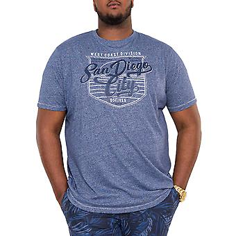 Duke D555 Mens Epson Big Tall King Size San Diego Printed T-Shirt Top Tee - Blue