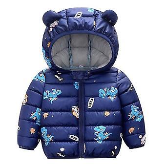 Baby Zimný kabát dole Bavlna Karikatúra s kapucňou Zips Snowsuit kombinézy