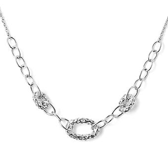 """Rachel Galley Silver Link Chain Necklace for Women Shinny Stamped Size 20"""""""