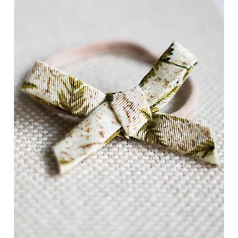 Fern Matching Nylon Headband Bow