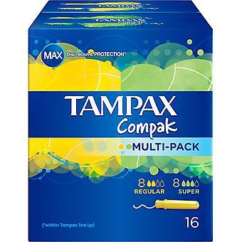 Tampax Compak Multipack Tampons 8 Regular +8 Super