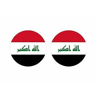 2x stick klistermärke rund cocarde flagga irak irak