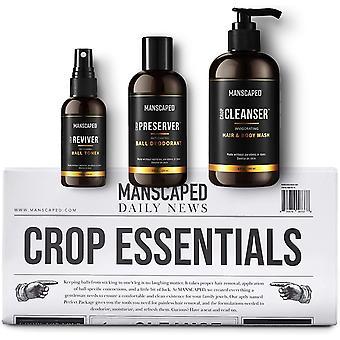 MANSCAPED™ Crop Essentials, Male Care Hygiene Bundle, Includes Invigorating Body Wash,