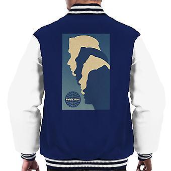 Pan Am Crew Silhouette Chaqueta varsity para hombre y mujer
