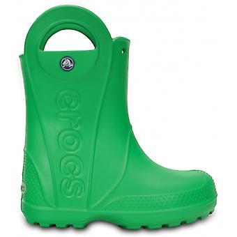Crocs 12803 Handle It Rain Boot Kids Wellington Boots Grass Green