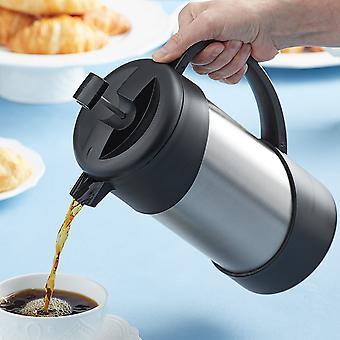 Thermos 34 oz. eristetty ruostumaton Gourmet-kahvia paina - hopea/musta