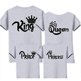 Perhe ja vauva t-paita, äiti vauvan kruunu mekot