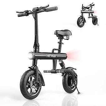 HITWAY Bicicleta eléctrica Plegable E-bike URBANBIKER hecho de aluminio de aviación plegable, 7.5 Ah, motor de 250 W, alcance de hasta 45 km BK1-HW