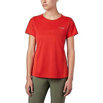 Columbia Irico Knit T-Shirt, Maglietta da Donna, Arancione Acceso, XL