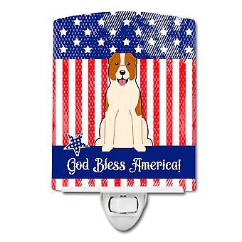 Caroline Schätze patriotischen Usa Zentral asiatischen Schäferhund Hund Keramik Nachtlicht, 6 x 4, mehrfarbig