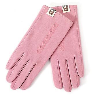 женщины Зима Держать Теплый сенсорный экран перчатки
