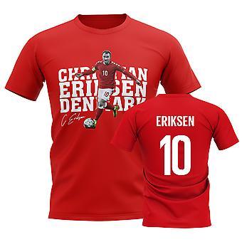 Christian Eriksen Danmark Spelare Tee (Röd)