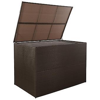 vidaXL Tuinbox Bruin 150x100x100 cm Poly Rotan