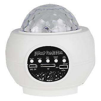 12X10.3x9.7cm valkoinen 1kpl tähtitaivaan projektiolamppu led ääniohjaus valo luova lamppu makuuhuone kotiin valkoinen dt3041