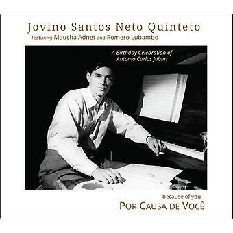 Jovino Neto Santos Quinteto - Por Causa De Voce (Because of You) [CD] USA import