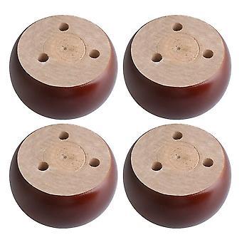 4kpl ruskea puu Pyöreä Litteä Huonekalu Jalka Jalat 9.6 * 5cm WS5368
