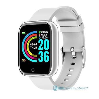 Mode acier inoxydable montre intelligente femmes homme sport montre électronique montre-bracelet tracker de fitness carrée femme smartwatch horloge