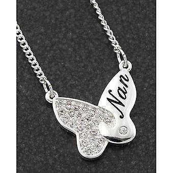 Papillon Jigsaw Silver Plaqué Collier Nan