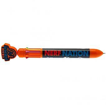 Nerf flerfärgad infällbar penna
