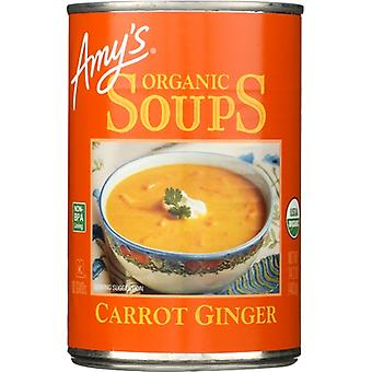 Amys Soup Carrot Ginger Org, Case of 12 X 14.2 Oz