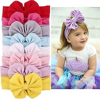 Girls Kids Baby Big Bow Hairband Headband Stretch Turban Knot Head Wrap