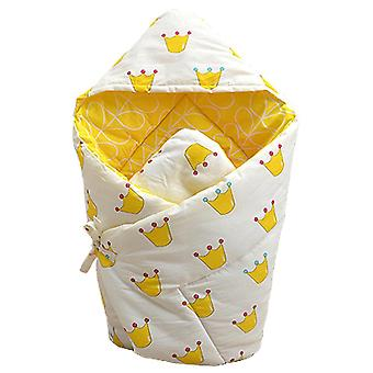 Yellow 90x90cm baby cotton quilt warm comfortable blanket all seasons homi2744