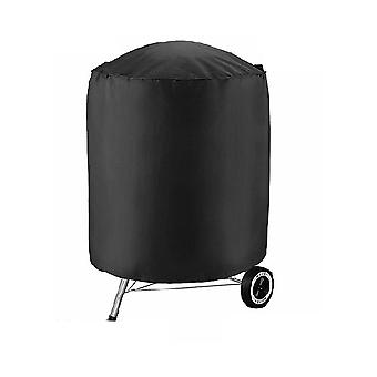 Mile 210d Oxford Ccloth Outdoor Barbecue Grill Dust Cover Black φ70x70cm
