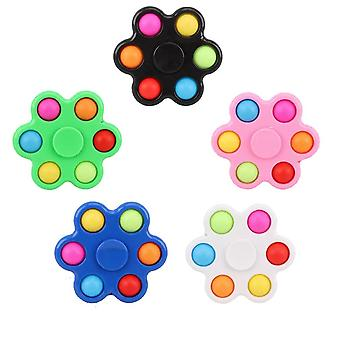 5pcs Push Pop Bubble Colorful Finger Spinner Stress Reliever