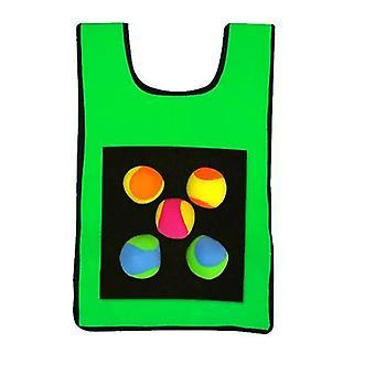 Crianças Sticky Jersey Vest 5 Pcs Sticky Throwing Balls (Verde)