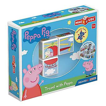 Construction set Geomag Magicube Peppa Pig (3 pcs)