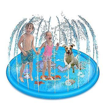 170/150/100cm Enfants Coussin gonflable de pulvérisation d'eau Ronde Eau Splash Play Piscine Jouant Tapis d'arrosage